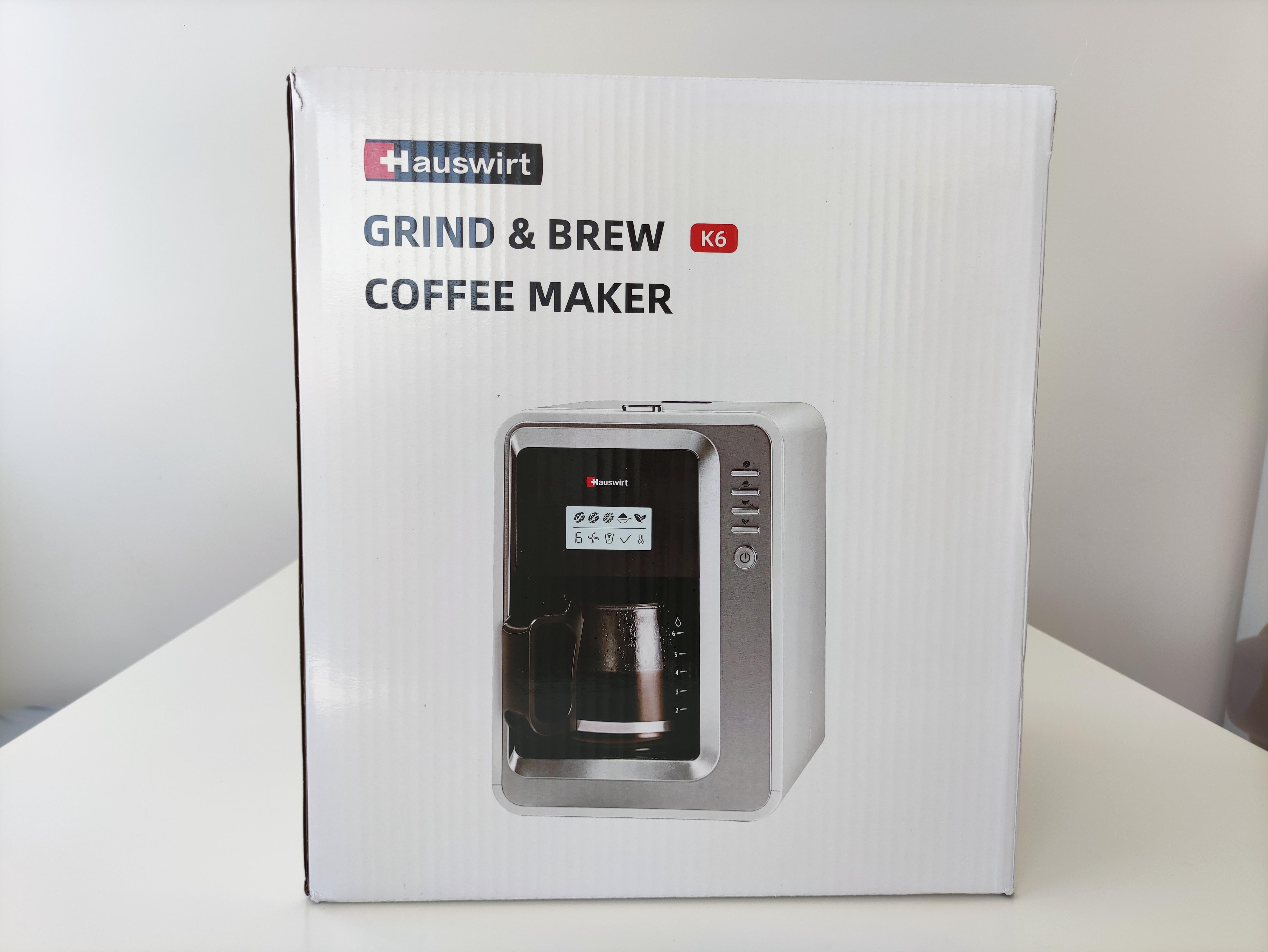 hauswirt coffee maker box