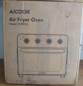 aicook air fryer toaster oven packaging