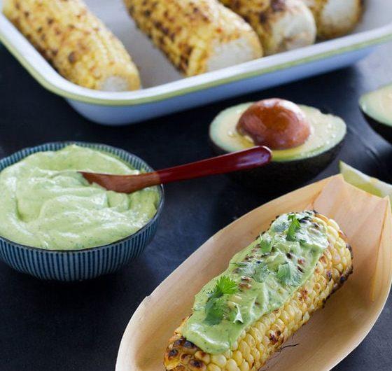 Corn Cob Ribs Creamy Avocado Dipping Sauce recipe